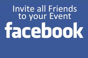 How to Invite all your Friends to Facebook Event