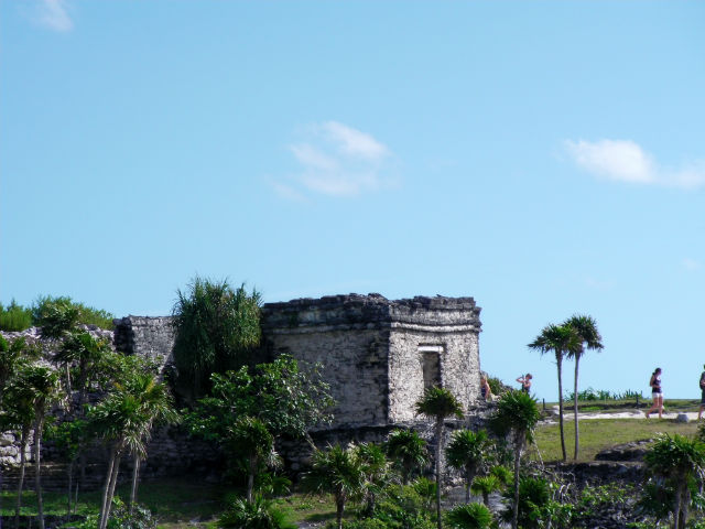 One of the buildings close to the shore