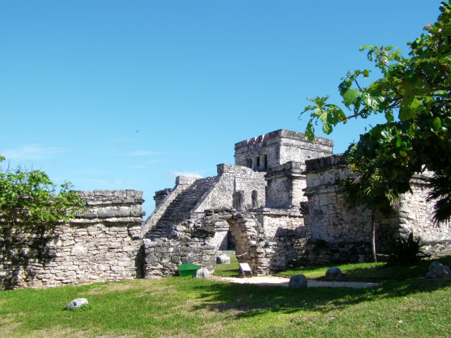 Tulum Ruin Lush Vegetation Riviera Maya Mexico Vacation Beautiful Paradise