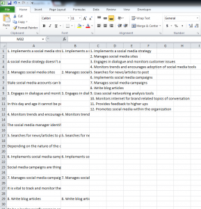 Excel Extract Numbered List From a Document