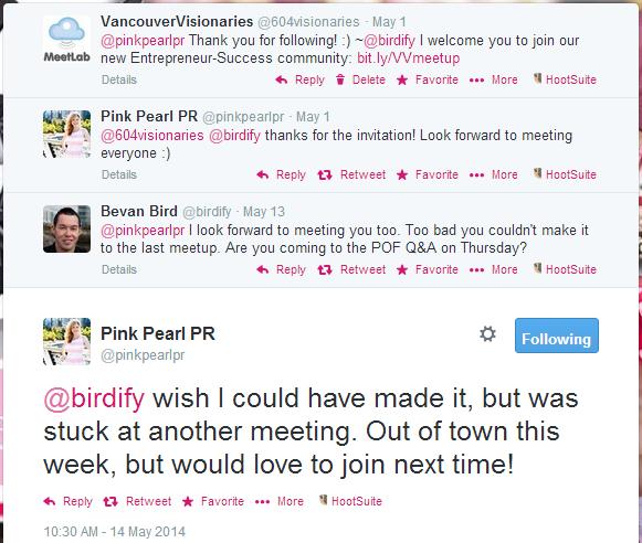 B2B Social Media Lead Generation Tweets Pink Pearl PR