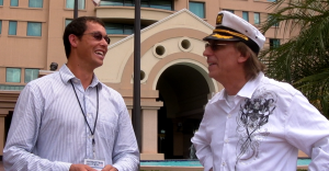 Me interviewing Captian Lou about the JVZoo Cruise (formerly the Marketers Cruise)