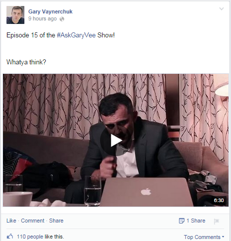 Gary Vaynerchuk Facebook Post