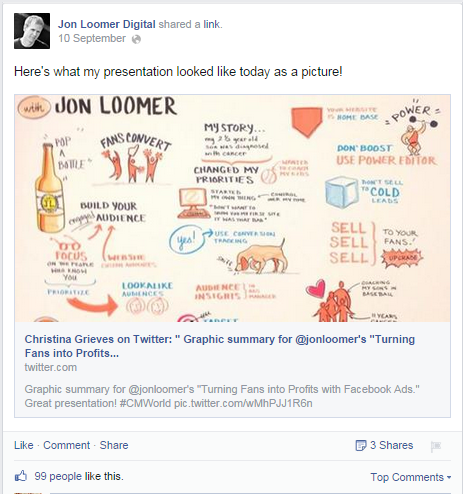 Jon Loomer Facebook Post