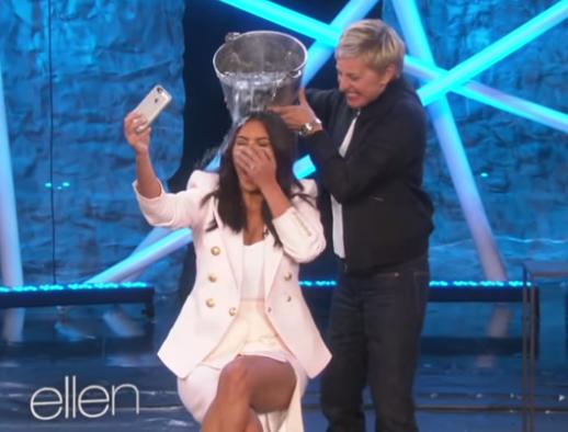 Kim Kardashian Ellen DeGeneres The Ellen Show ALS Ice Bucket Challenge