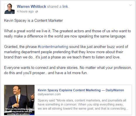 Warren Whitlock Facebook Post